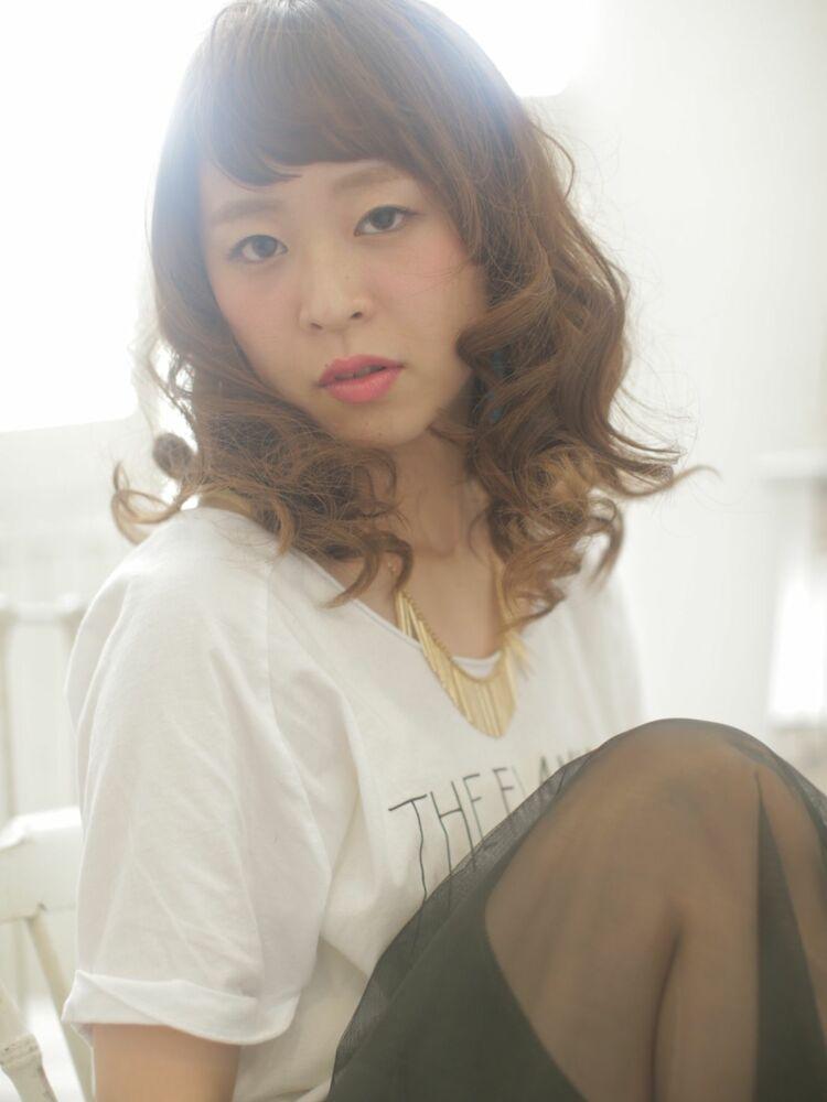 RUTA/野田阪神/髪質改善/透明感ベージュ/巻き髪/パーマ