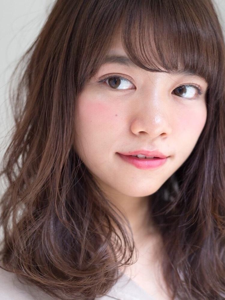 槌矢圭悟・ゆるふわ/大人可愛い/斜めバング/前髪パーマ/女子ウケ/セミディ