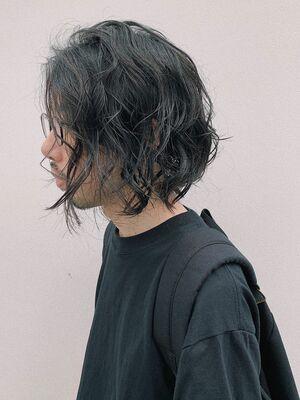 FRANZ 下地/ミディアム/ボブスタイル/パーマスタイル/メンズヘアスタイル
