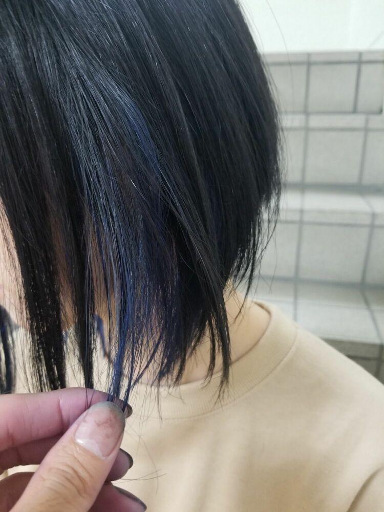 ブルーのインナーカラー