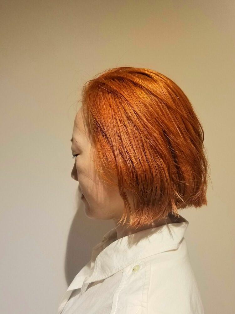TWICEサナ風オレンジカラー