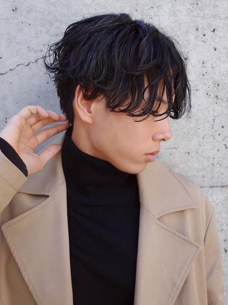 黒髪ツイストセンターパート!!