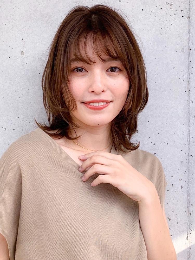 ひし形くびれレイヤーショートボブ・透明感カラー☆