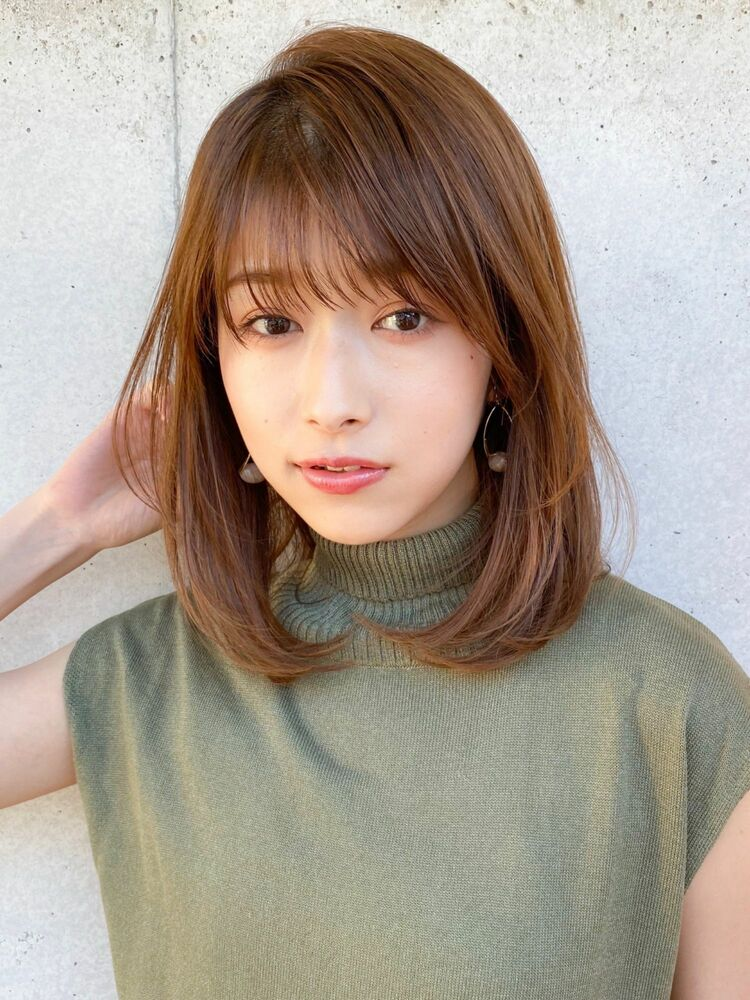 小顔・大人可愛いミディアム・毛先パーマ☆