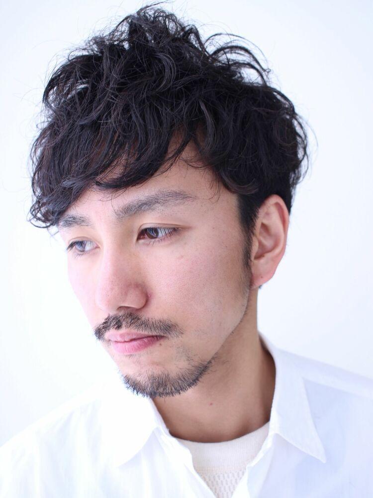 ワイルドなくせ毛風パーマ・黒髪ショートヘア★
