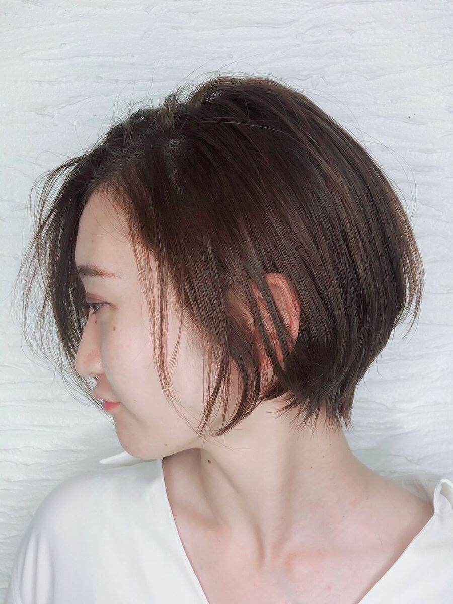 くびれショートボブ×サム式縮毛矯正×oggi ottoオーダーメイド