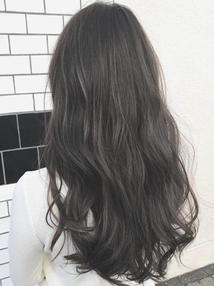 イルミナカラー/暗髪ブルージュカラー/デジタルパーマ/表参道