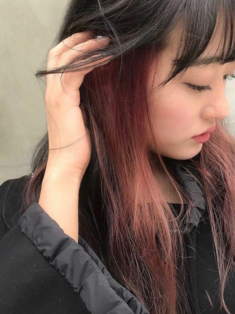 インナーカラー/ピンクベージュ/ピンクアッシュ/ケアブリーチ/ダブルカラー表参道