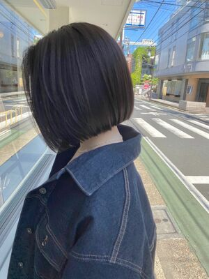 大人かわいい/ミニボブ/髪質改善/暗髪カラー/ダークアッシュ/表参道