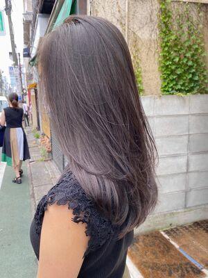 ミルクティーグレー/透明感カラー/外国人風カラー/イルミナカラー/ケアブリーチ/表参道