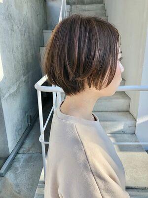 BALLOON HAIR 表参道店(ヒルズ裏 1分) ハンサムひし型ショート お客スタイル