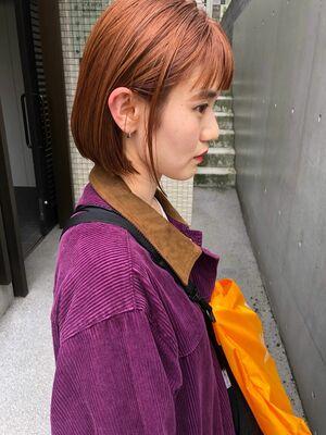 BALLOON HAIR 表参道店(ヒルズ裏 1分) 無造作な外ハネと切りっぱなしボブ