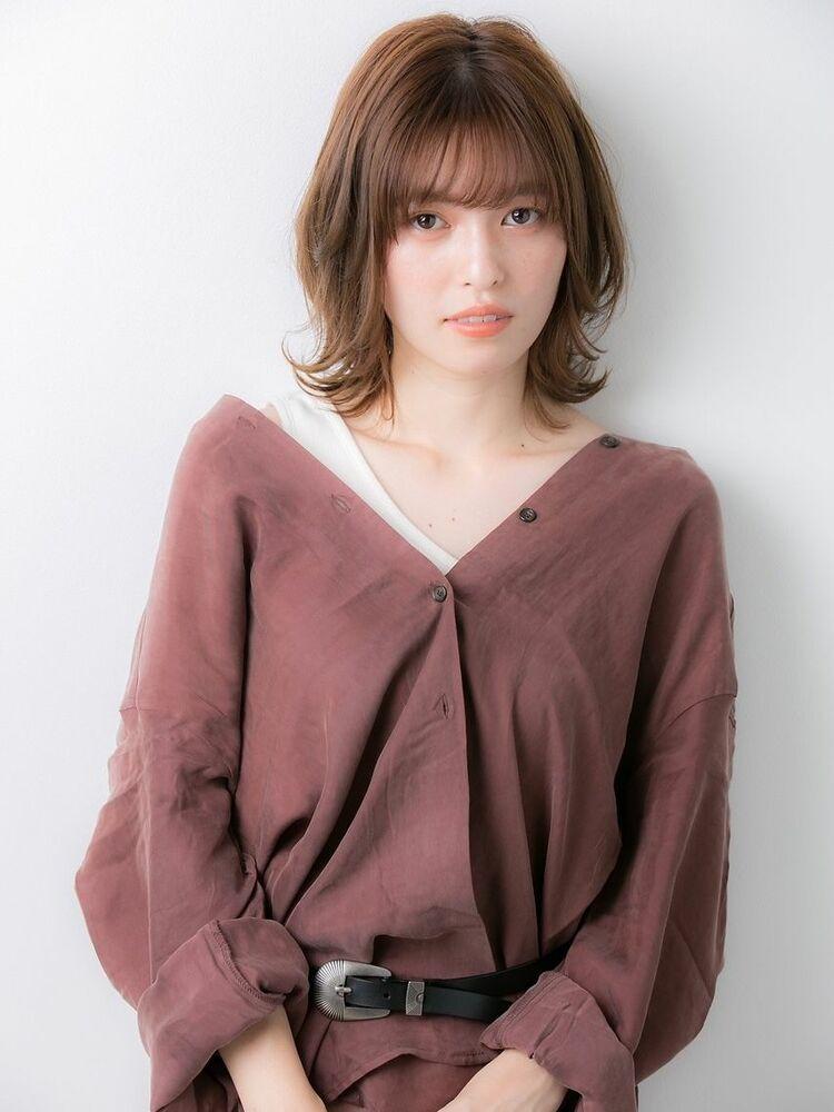 Euphoria斎藤仁美20代30代40代◎小顔 ひし形セミディ