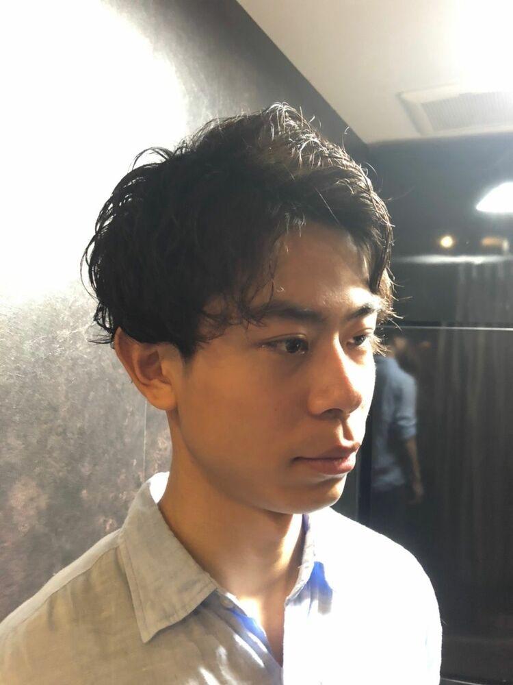 スパイラルパーマ メンズ バーバー barber メンズ専門美容室 ヒロ銀座 理容室 床屋 東京