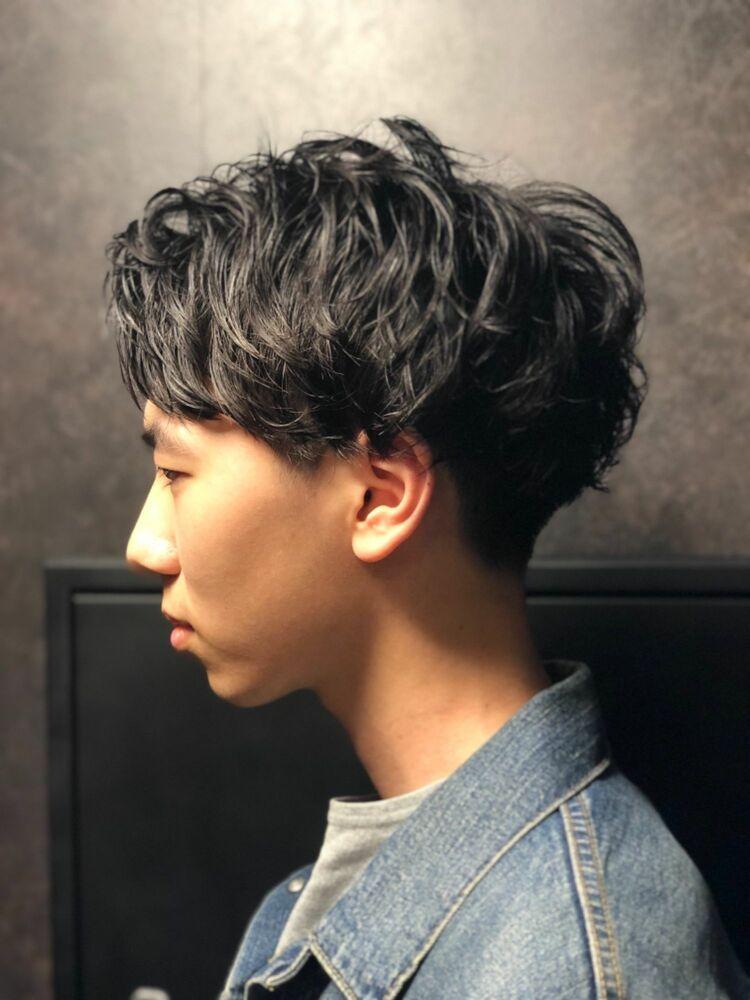 東京NO1理容室が作るアップバングスパイラルパーマ