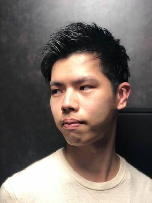 ツーブロ アップバング ショート 理容室 バーバー barber ヒロ銀座 床屋 パーマ