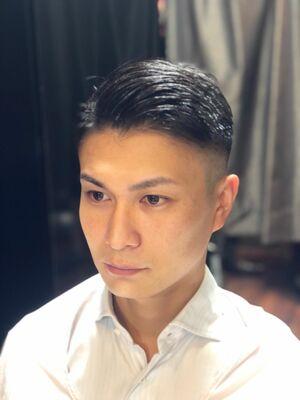 イケてるビジネスショートスキンフェード ベリーショート 理容室 ヒロ銀座 藤田 床屋 BARBER