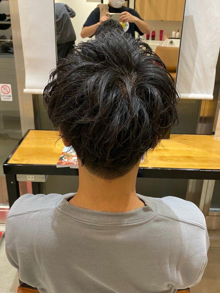 直毛、ペタンコの髪質にオススメ!!ボリュームアップスパイラルパーマ