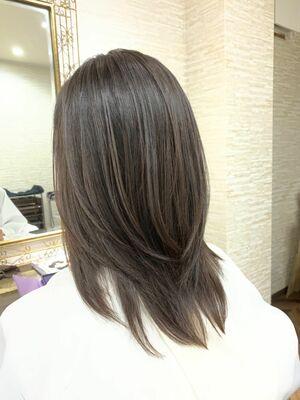 黒髪×レイヤー