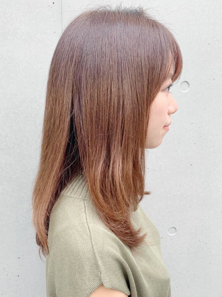 *dydi表参道*シンプルな毛先ワンカールのセミロング