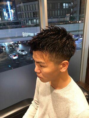 短髪ツーブロックイケイケスタイル