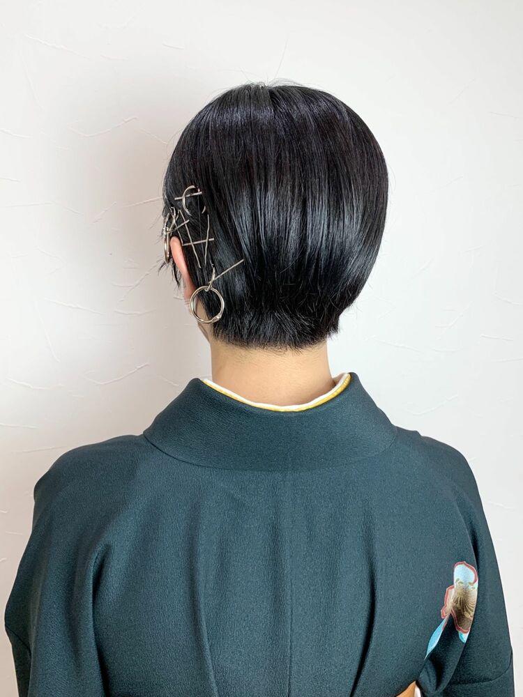 卒業式ヘア・袴ヘア・ショートヘアアレンジ・マッシュショート