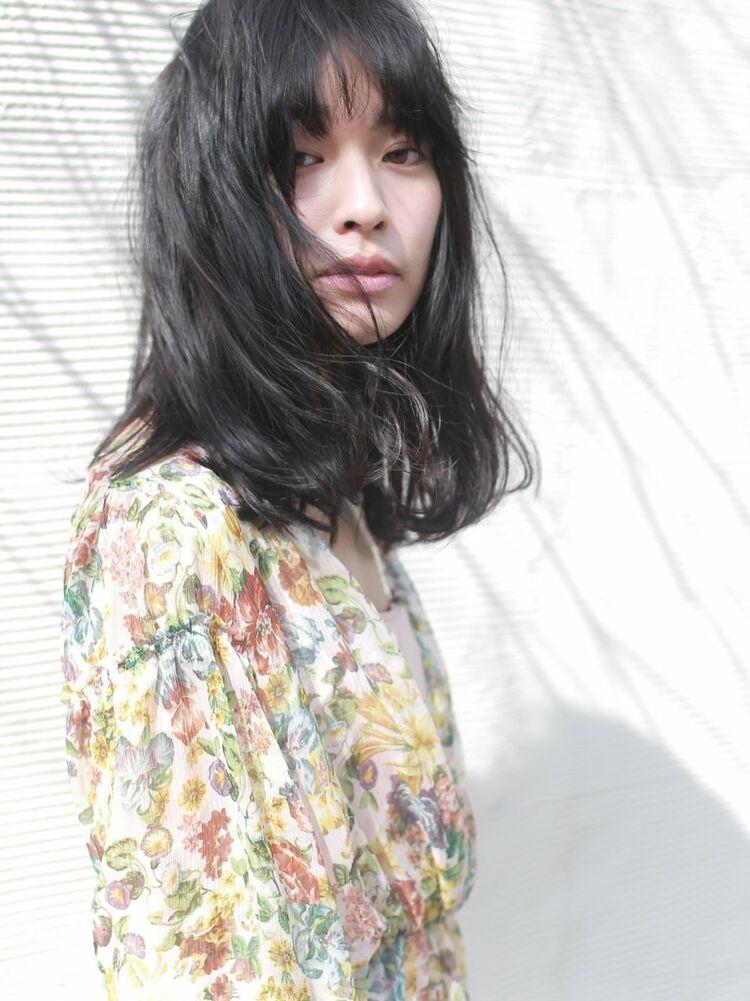 〔Belle 〕黒髪ロング×ゆるウェーブ〔パーマスタイル〕
