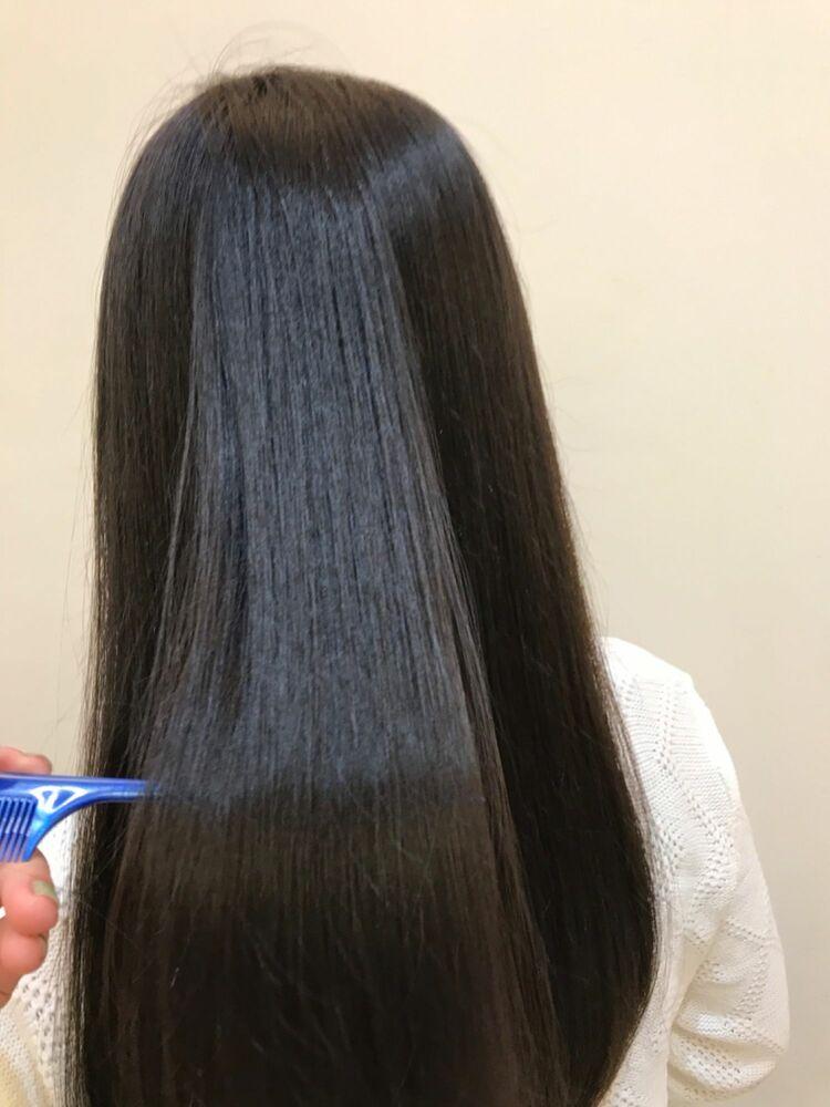 髪質改善でツルツルヘアに⭐️綺麗に伸ばしたい方におすすめのメニューです!