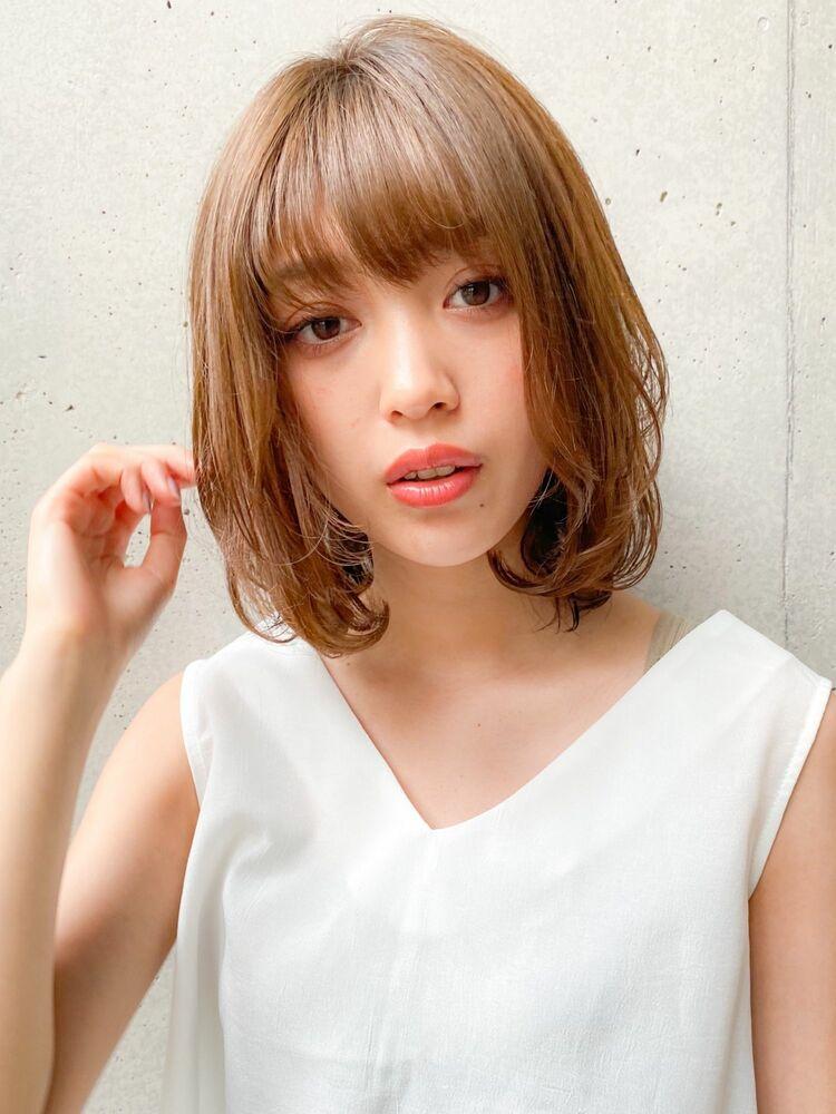 ワンカールのミディアムスタイル♪Agnos青山 原田