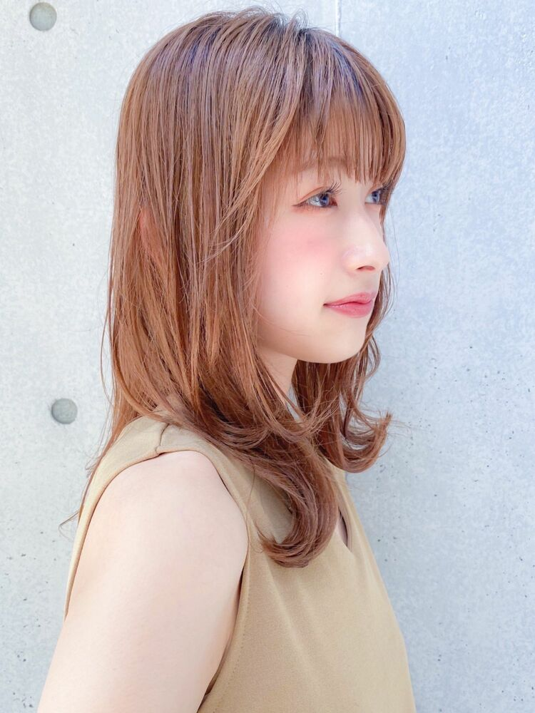 外ハネミディアムは大人可愛い人気スタイル♪Agnos青山原田