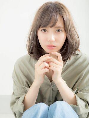 ゆるふわパーマ×大人ミディアム☆ひし形シルエット☆