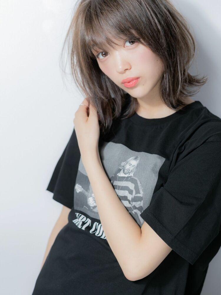 小顔ミディアム×大人女子☆ウルフカット☆