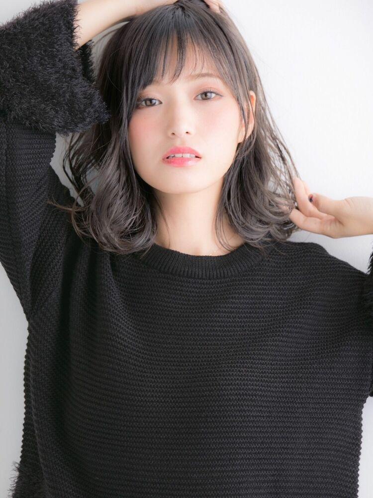 大人可愛いゆるふわパーマ×小顔ミディアムスタイル☆