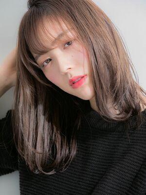 外ハネミディアム×美髪大人女子☆ことりベージュ☆