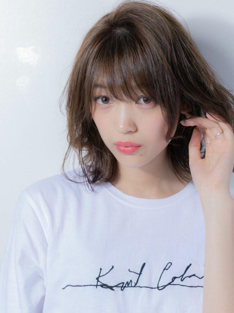 小顔ミディアム×大人女子☆ひし形シルエット☆20代30代40代50代☆