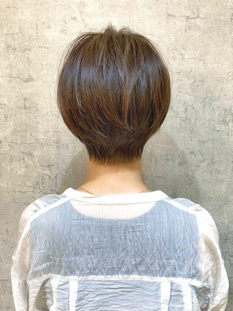 ハンサムショート+モカブラウン30代40代【浦野】