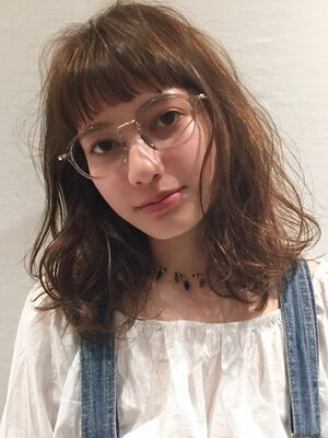 2019秋冬☆ふんわりパーマまろっとベージュオン眉ロブボブ☆柴田彩香
