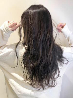 2019秋冬☆コントラストハイライトラベンダーグレージュ☆錦糸町美容室柴田彩香