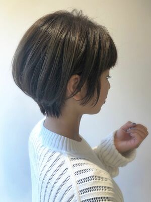 2019秋冬☆ハンサムショートオリーブグレージュ☆錦糸町美容室柴田彩香