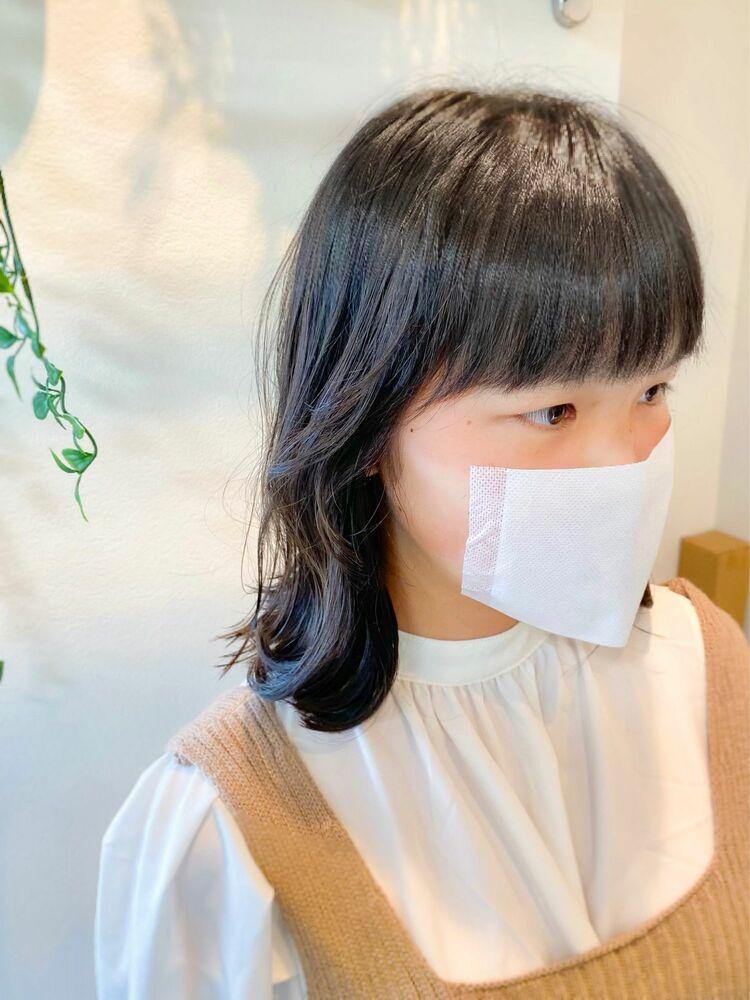 小6女子のイメチェンヘア☆フェイスレイヤー×外はねヘア