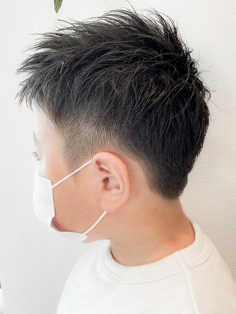 すっきり刈り上げ納涼ヘア☆キッズのツーブロ×短髪ヘア