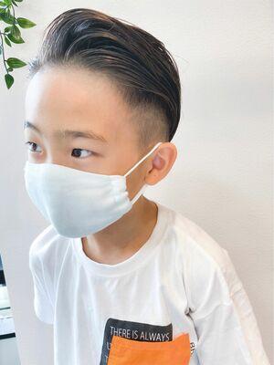 ワイルドにイメチェン☆キッズの七三×ソフトリーゼントヘア