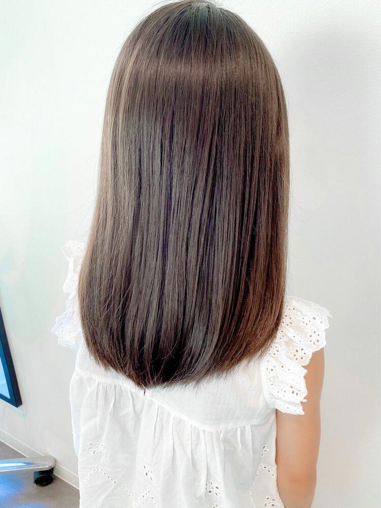 小学生女子もツヤ髪に☆ワンカール×ストレートヘア