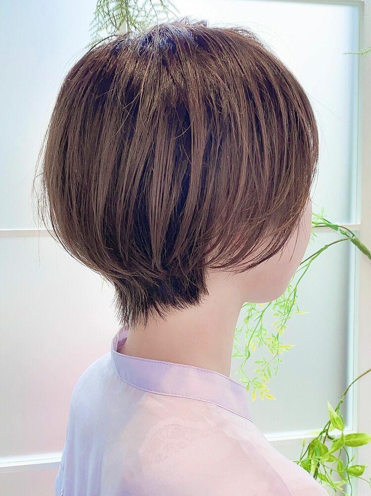 抜け感と透明感たっぷり★人気のダイヤモンドボブ×透け感バング