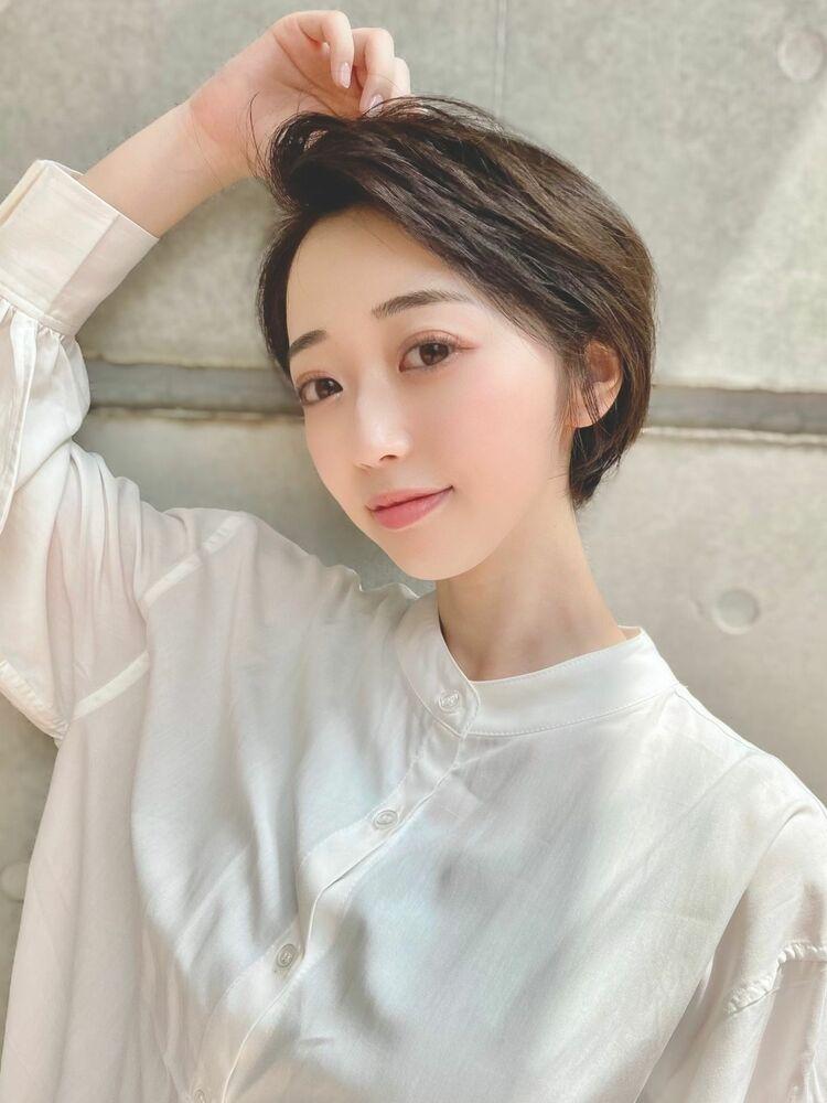 夏の黒髪がナチュラル可愛い☆夏ショートボブ×ひし形レイヤー