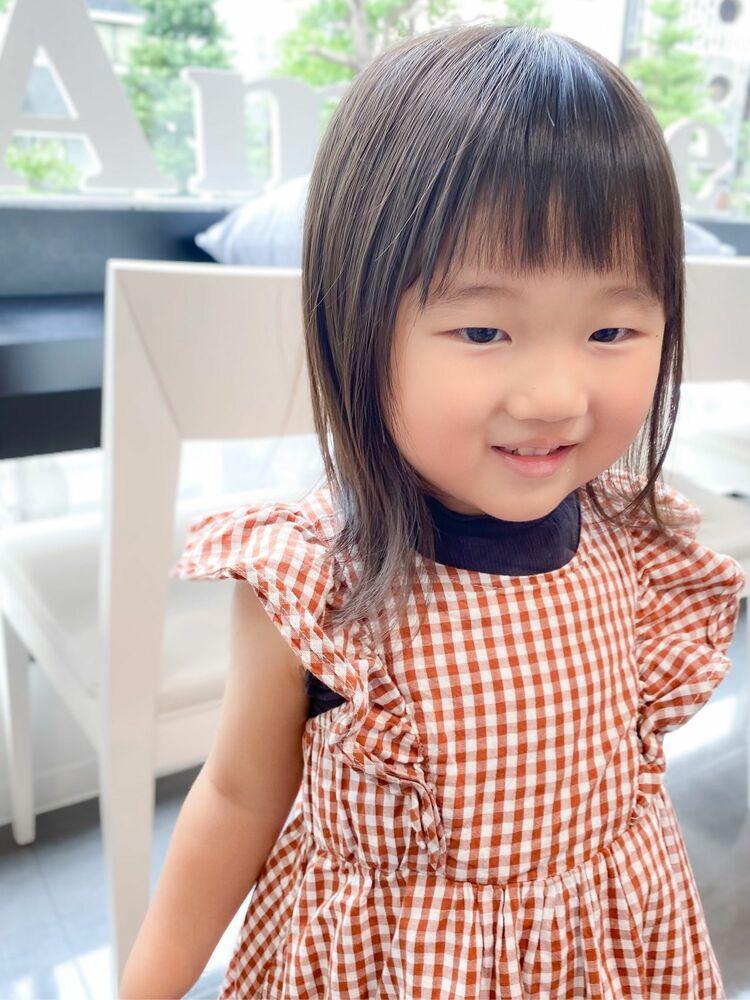 子供の前髪は短めが可愛い☆キッズ女の子×夏のヘアカット
