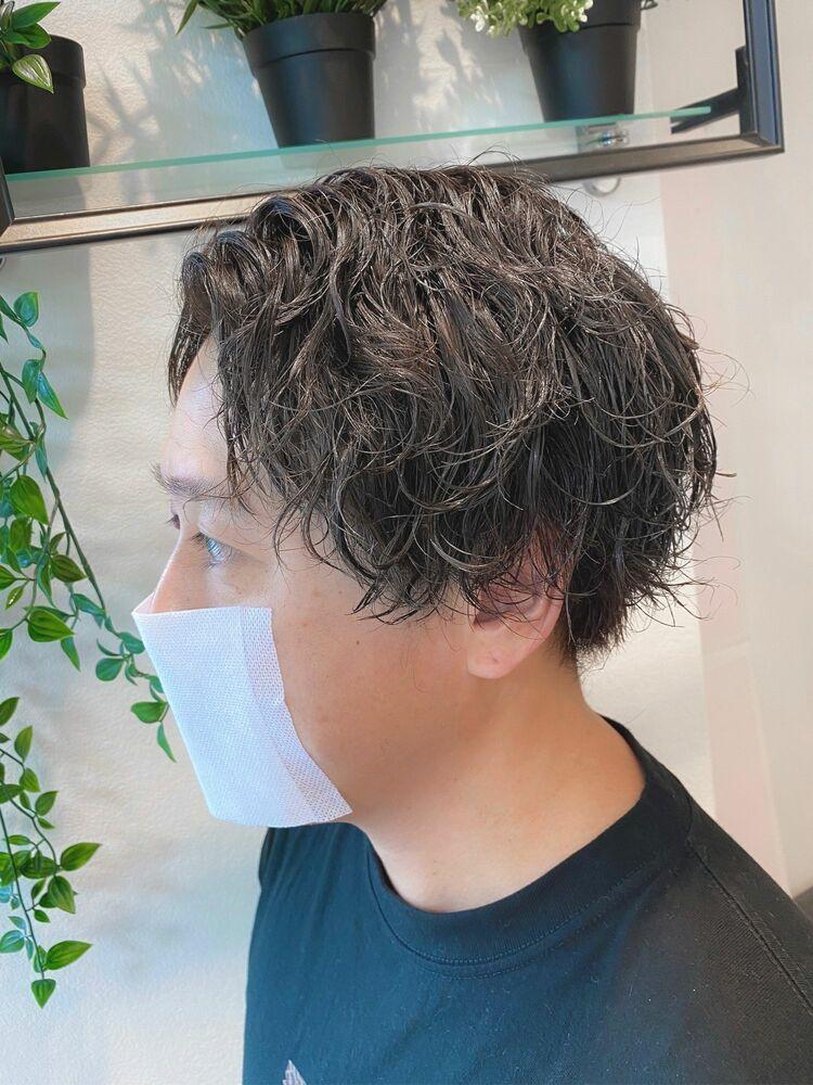長めでも夏のおしゃれを楽しむ☆MENs HAIR×クリームスパイラルパーマ