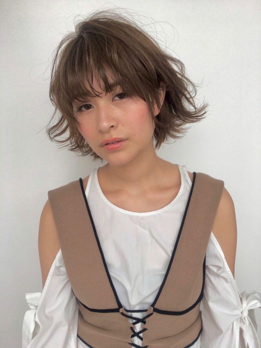 銀座/カット/上手/パーマ//デジタルパーマ/ショート/ボブ/インスタ→@natsuumi_hair