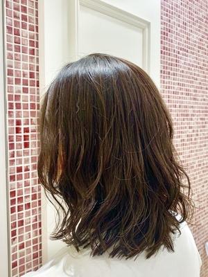 apish  ginZa*佐藤涼香*ロブ コテ巻き風デジタルパーマヘア