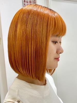 apish  ginZa*佐藤涼香*ビビットオレンジヘア